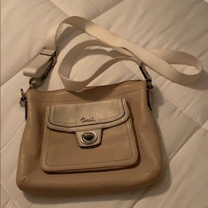 Leather Coach small cross body purse